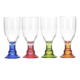 TABLEWARE - Flamefield Bella Goblets - Assorted Colours - 4 piece