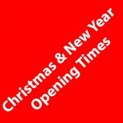 Our Christmas and New Year Opening times 2016
